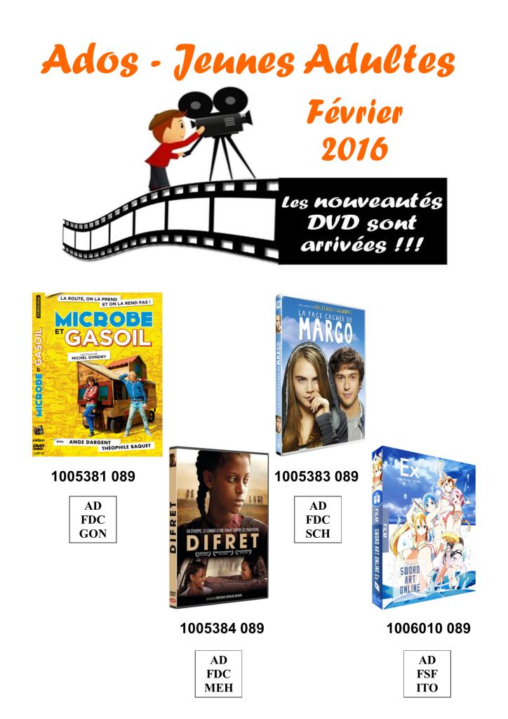 dvd ados 2 fevrier 2016