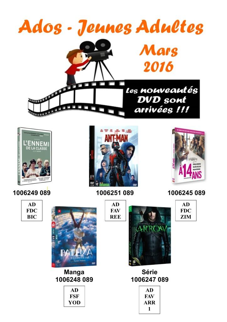dvd ados 3 mars 2016