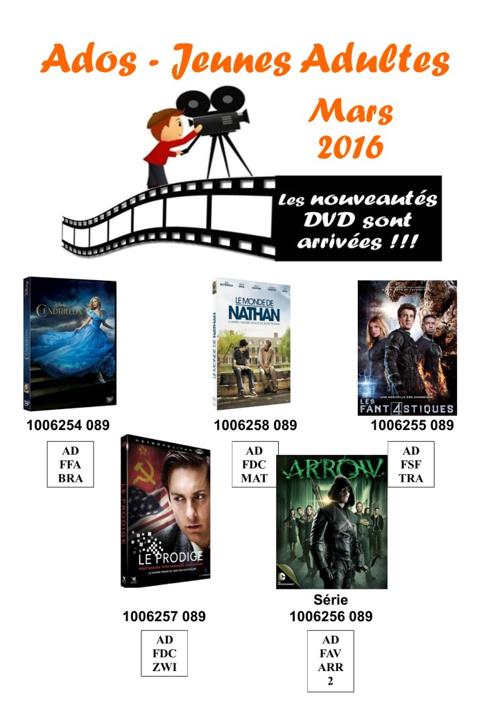 dvd ados 4 avril 2016
