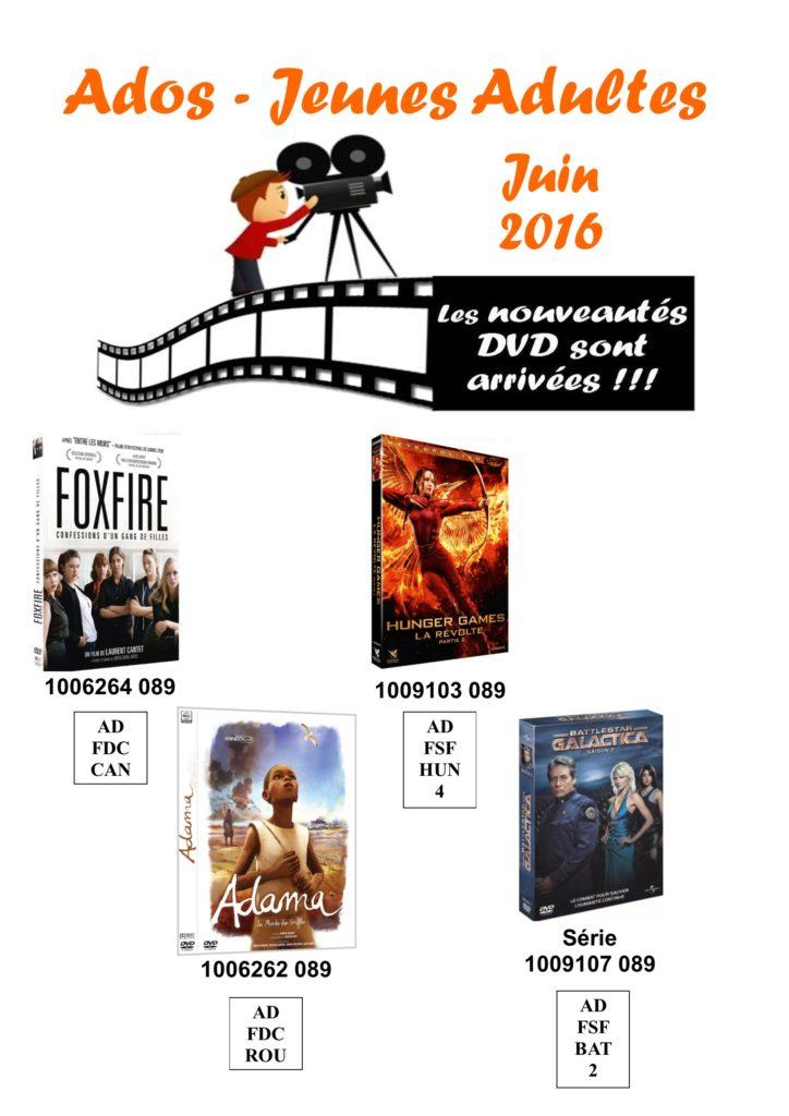dvd ados 6 juin 2016