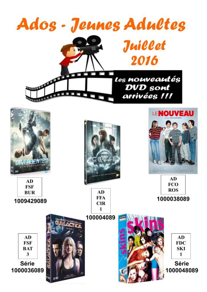 dvd ados 7 juillet 2016