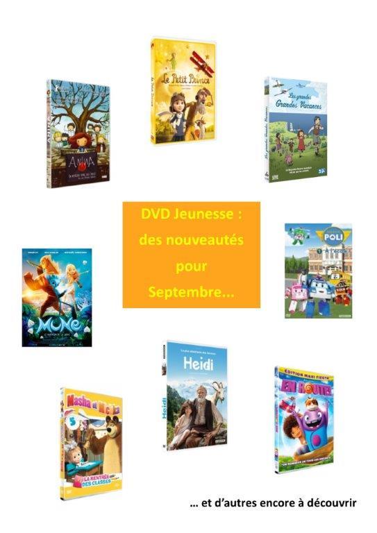 Nouveautés DVD jeunesse septembre2016
