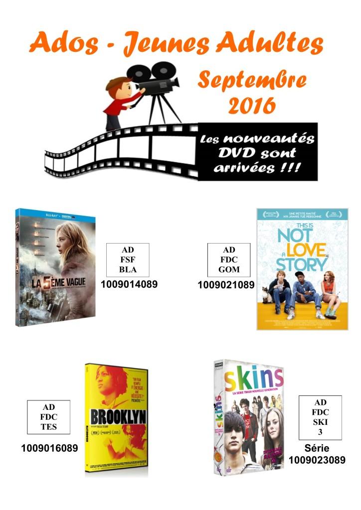 dvd ados 9 septembre 2016